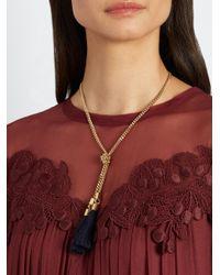 Chloé - Multicolor Lynn Tassel-drop Necklace - Lyst