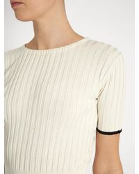 Brock Collection White Kylie Silk-knit Crew-neck Top