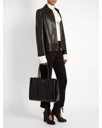 Lanvin Black Nela Leather Shopper