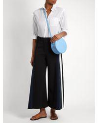 PB 0110 | Blue Ab38 Leather Cross-body Bag | Lyst