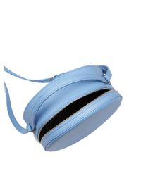 PB 0110 Blue Ab38 Leather Cross-body Bag