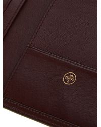 Mulberry - Brown Leather Passport Wallet for Men - Lyst
