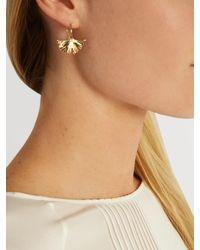 Aurelie Bidermann - Metallic Ginkgo Gold-plated Earrings - Lyst