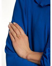 Delfina Delettrez | Multicolor Diamond, Pearl & Yellow-gold Ring | Lyst