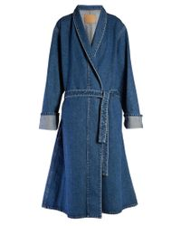 Balenciaga Blue Stonewashed Denim Coat