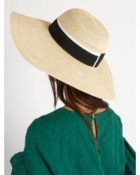 Maison Michel Natural Blanche Hemp-straw Hat