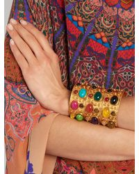 Sylvia Toledano - Multicolor Byzance Large Gold-plated Cuff - Lyst