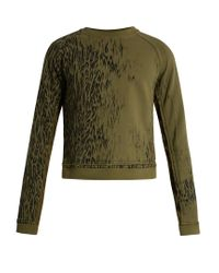 Haider Ackermann Green Perth Leopard-print Cotton Sweatshirt for men