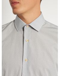 Paul Smith - Gray Single-cuff Pin-dot Print Cotton Shirt for Men - Lyst