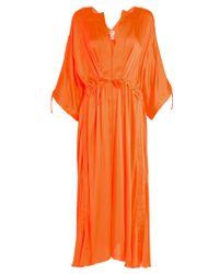 Maison Rabih Kayrouz   Orange Tie-waist Charmeuse Dress   Lyst