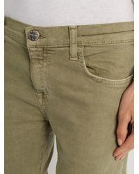 Current/Elliott - Green The Fling Straight-leg Cropped Jeans - Lyst