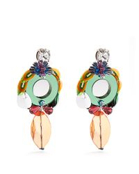Miu Miu | Multicolor Flower-drop Clip-on Earrings | Lyst