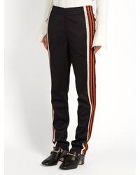 Wales Bonner - Black Palms Contrast-stripe Track Pants - Lyst