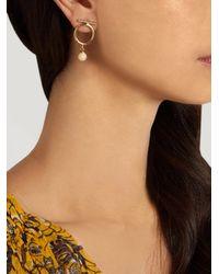 Isabel Marant - White True Circle Earrings - Lyst