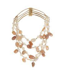Rosantica By Michela Panero | Multicolor Kiwi Pearl And Sunstone Necklace | Lyst