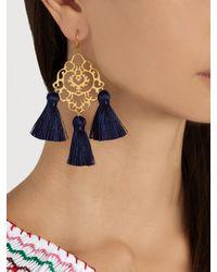 Marte Frisnes | Blue Rita Tassel Earrings | Lyst