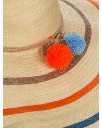 Sophie Anderson Natural Corozon Pompom-embellished Raffia Hat
