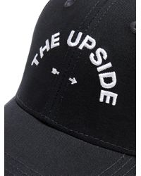 The Upside - Black Embroidered Cap - Lyst