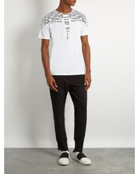 Marcelo Burlon White Rey Cotton-jersey T-shirt for men