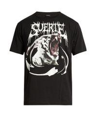 Marcelo Burlon Black Lorenzo Cotton-jersey T-shirt for men