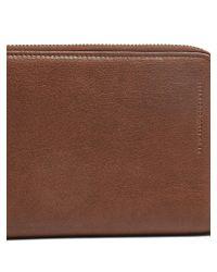 Brunello Cucinelli Brown Zip-around Leather Travel Wallet
