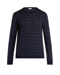 Boglioli | Blue Crew-neck Wool-blend Sweater for Men | Lyst