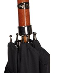 London Undercover | Black London Vintage-map Beech-handle Umbrella | Lyst