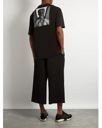 Raf Simons Black American-fit Self Portait-print Cotton T-shirt for men
