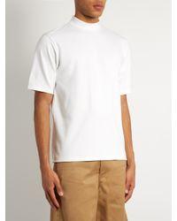 Acne Studios White Fons High-neck Jersey T-shirt for men