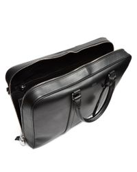 Tod's | Black Logo-print Leather Briefcase for Men | Lyst