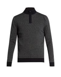 Ermenegildo Zegna - Blue Zip-front Wool Sweater for Men - Lyst