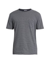Sunspel | Blue Striped Cotton-jersey T-shirt for Men | Lyst