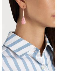 Irene Neuwirth - Blue Opal & Rose-gold Earrings - Lyst