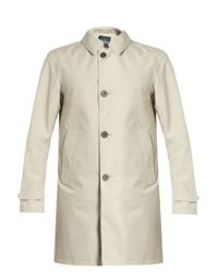 Herno - Natural Laminar Single-breasted Overcoat for Men - Lyst