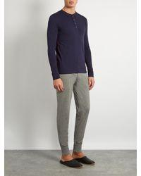 Paul Smith - Blue Henley Cotton-jersey Pyjama Top for Men - Lyst