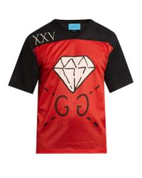 01fef314a3c Gucci Ghost-print Mesh T-shirt in Black for Men - Lyst