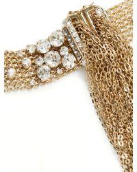 Lanvin - Metallic Crystal-embellished Wraparound Bracelet - Lyst