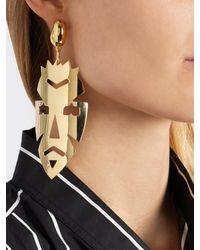 Loewe - Metallic -mask Drop Earring - Lyst