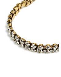 Balenciaga - Metallic Crystal-embellished Necklace - Lyst