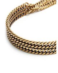 Balenciaga - Metallic Layered-chain Necklace - Lyst