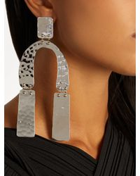 Proenza Schouler - Multicolor Abstract-shaped Hammered Drop Earrings - Lyst