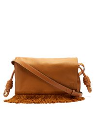 Loewe | Brown Flamenco Grained-leather Shoulder Bag | Lyst