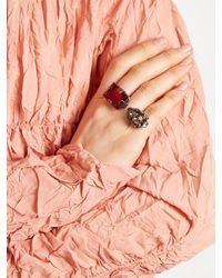 Marni - Multicolor Double-stone Ring - Lyst