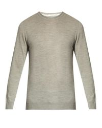 Adam Lippes | Gray Crew-neck Wool Sweater for Men | Lyst
