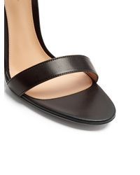 Gianvito Rossi Black Cocktail Ankle-tie Leather Sandals