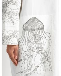Awake - White Jellyfish-print High-neck Cotton-blend Tunic Top - Lyst