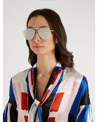 Le Specs Metallic Liberation Mirrored Aviator Sunglasses