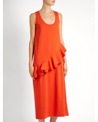 MSGM - Orange Abelle Dress - Lyst