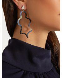 Lucy Folk Blue Twizzler Sapphire Earrings