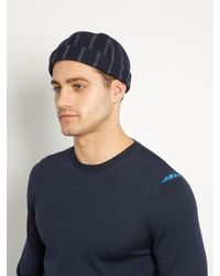 Maison Michel Blue Calvin Wool And Cashmere-blend Hat for men